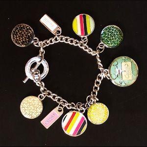 COACH Silver Chain Charm Bracelet